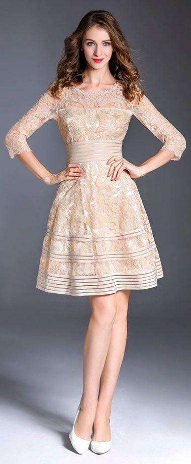 Robe courte habillee pour un mariage
