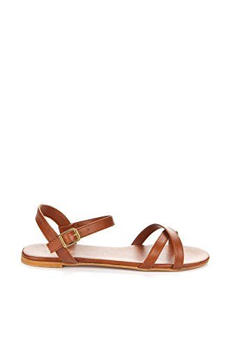 Savannah by Joai  Womens Classic Flat Sandals Ginger 40 EU *** You can find out more details at the link of the image.