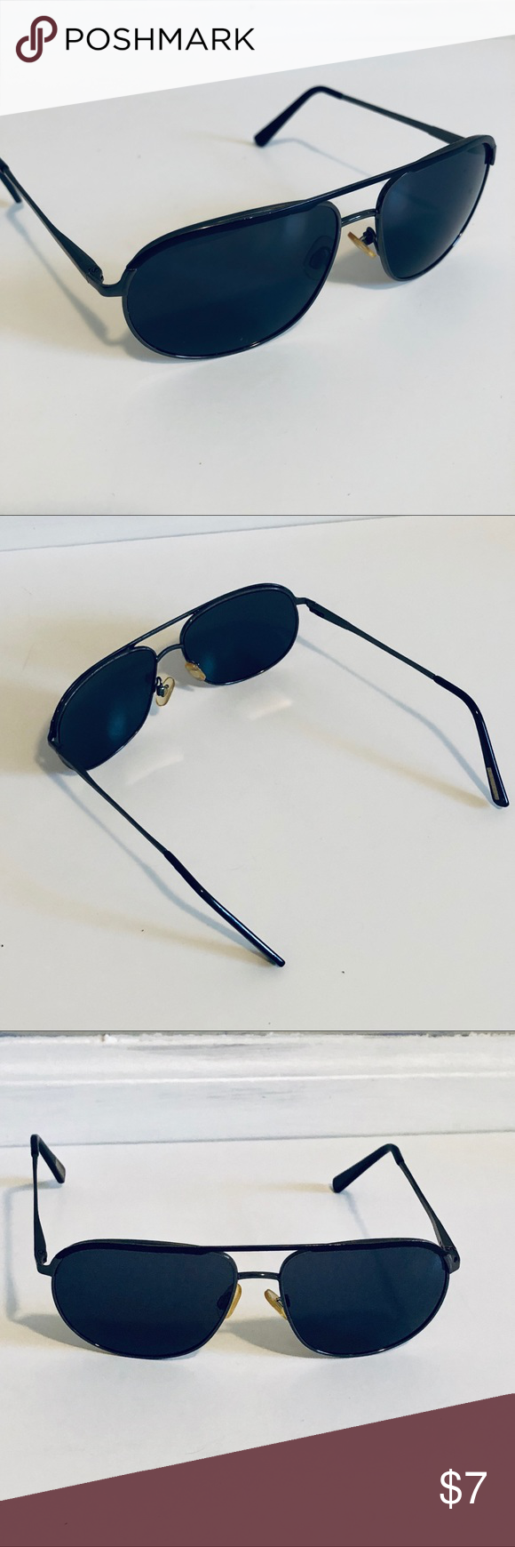 48e3a1e617a8 Black Aviator Sunglasses from Express Awesome aviators! - Dark lenses -  Charcoal rim - A little loose but can tighten if you prefer that fit - A  bit more ...