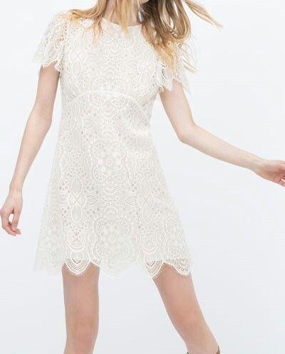 Robe crochet blanche zara