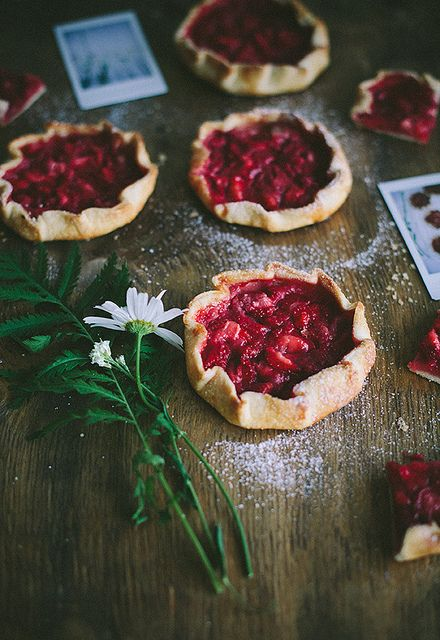 Strawberry galettes by Call me cupcake, via Flickr