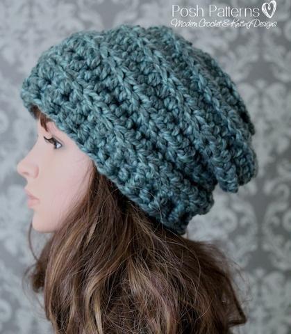 Crochet Pattern - Chunky Crochet Hat Pattern Beehive Slouchy ...