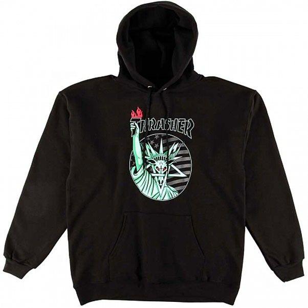efafac19268c Thrasher Magazine Liberty Goat Hooded Sweatshirt Black