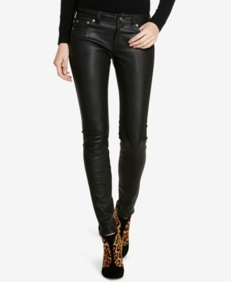POLO RALPH LAUREN Polo Ralph Lauren Stretch Leather Pants