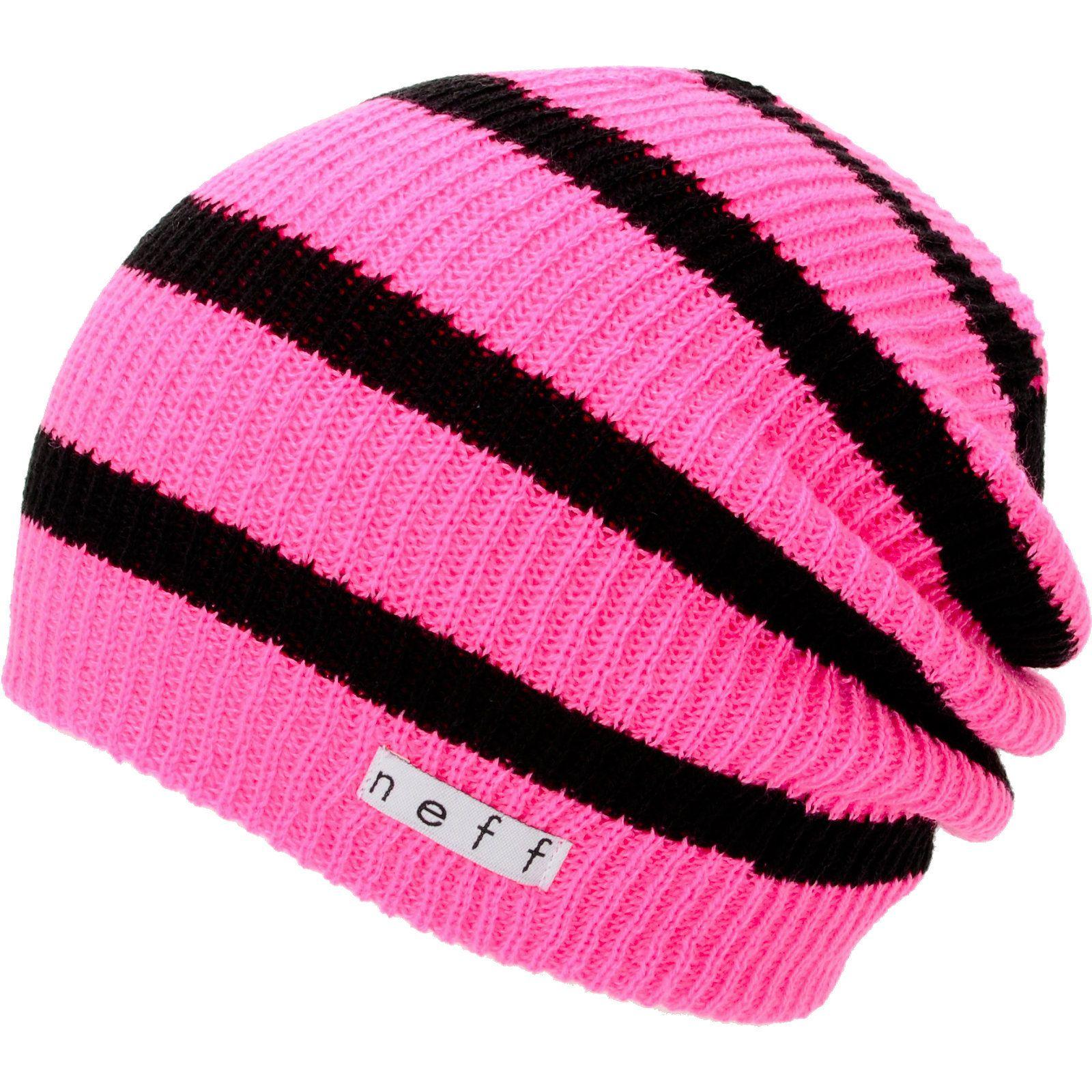 6c999b9a3f9 Neff Daily Pink   Black Stripe Beanie at Zumiez   PDP
