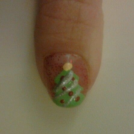 Is it already that time of the year? The most wonderful time!? Christmas!? One of my own naildesigns :) nails christmastree