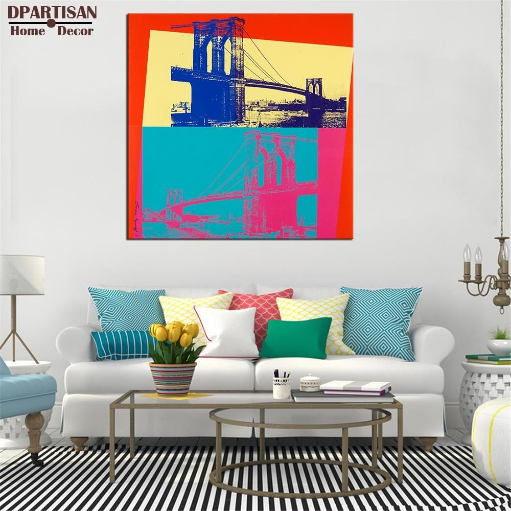 DPARTISAN Brooklyn Bridge c1983 By study POP Art Print poster on canvas for wall decoration no frame wall picture arts