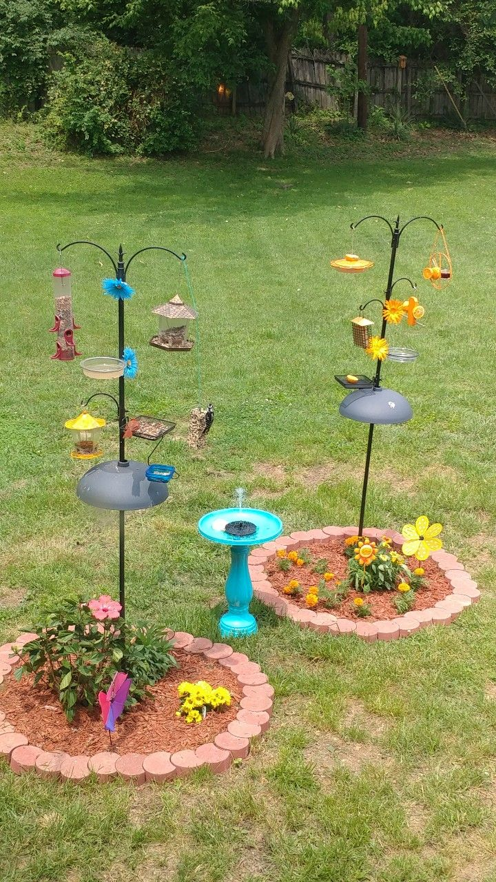 Pin By Liz Bennett On Birdfeeders Backyard Birds Sanctuary Bird Feeder Station Bird Feeding Station