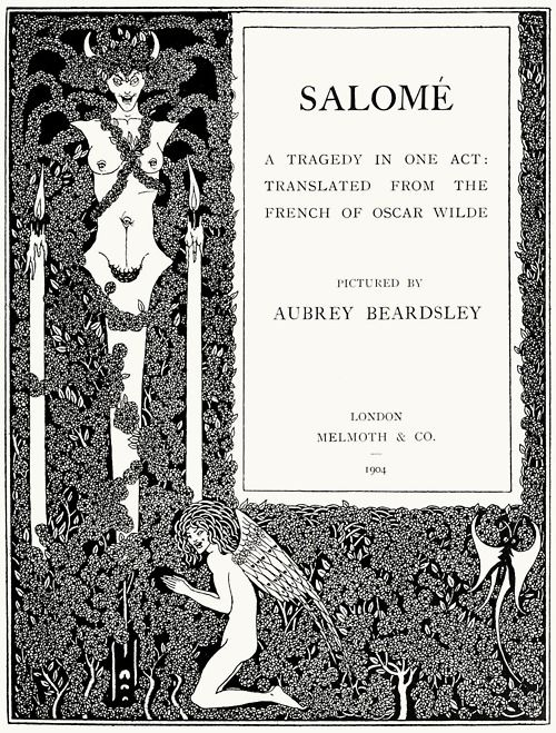 Aubrey Beardsley Title Page From Salome A Tragedy In One Act
