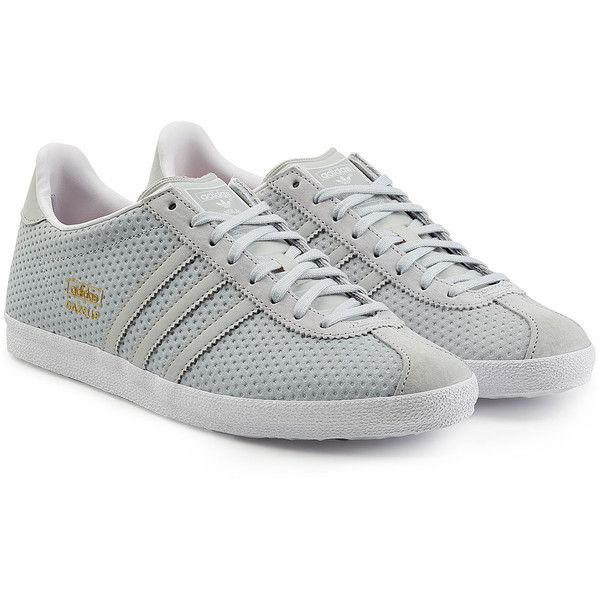 Adidas Originals Mesh Leather Gazelle Sneakers ($89) ❤ liked on Polyvore  featuring shoes,