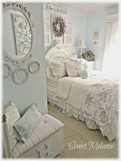 This Is My Dream Bedroom Sweet Melanie Stops By From Front Porch To Yours And Shares Her Style With Readers Gives Tips On Creating A Shabby Chic