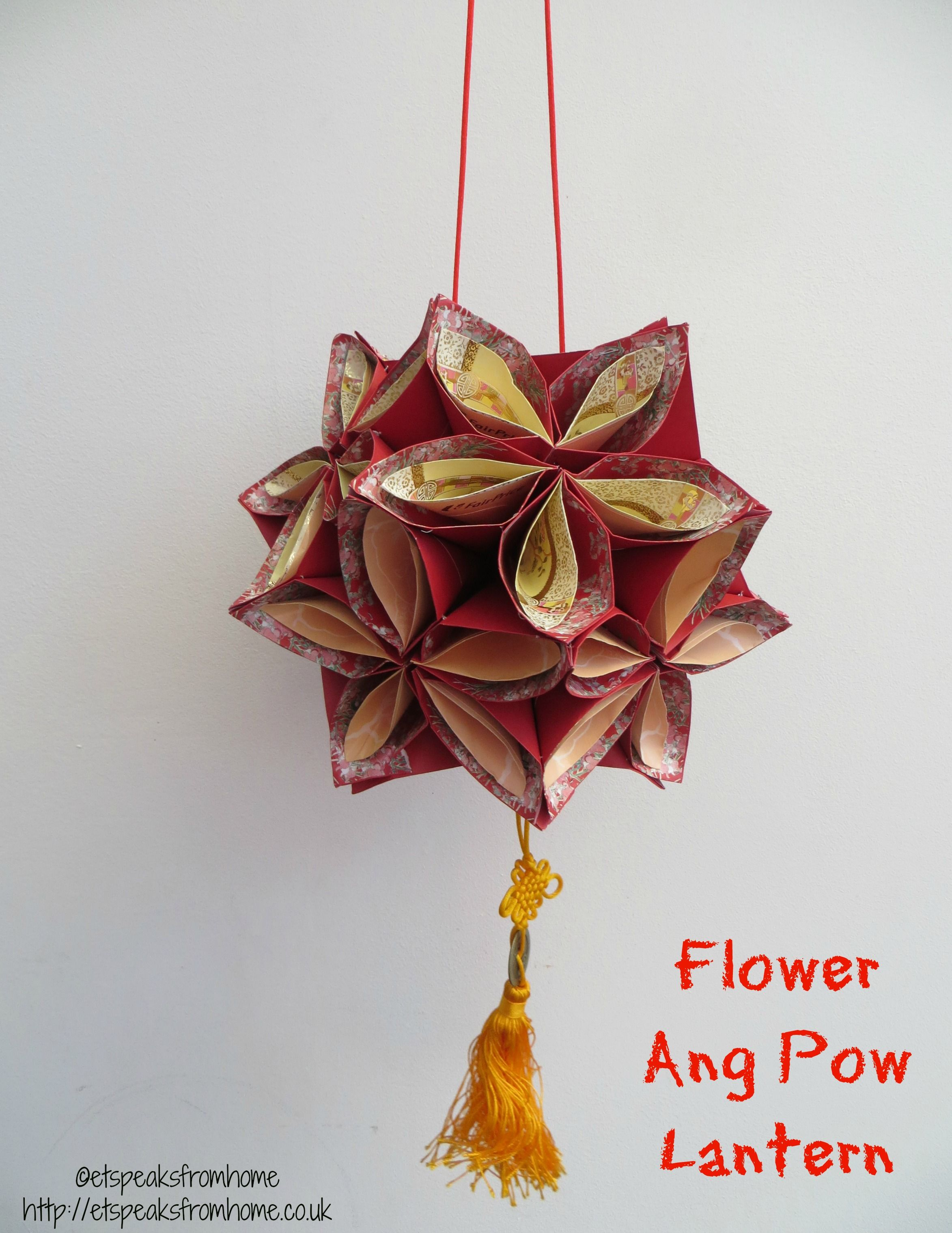 Ang pow flower lantern flower craft and origami for Ang pow decoration craft work