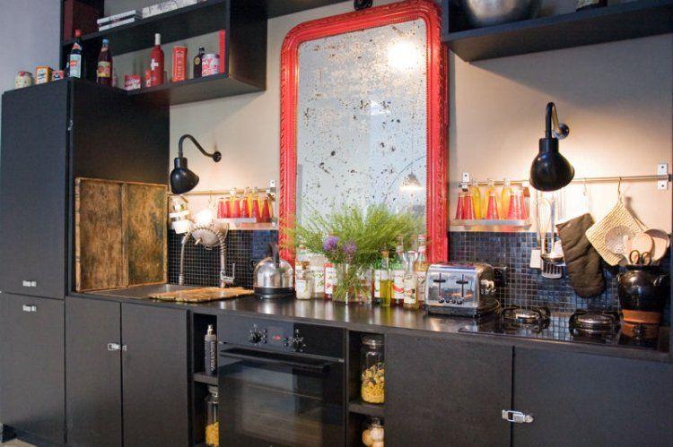 Cuisine noire  27 façons d\u0027apprécier cette couleur Beautiful - meuble bas cuisine avec plan de travail