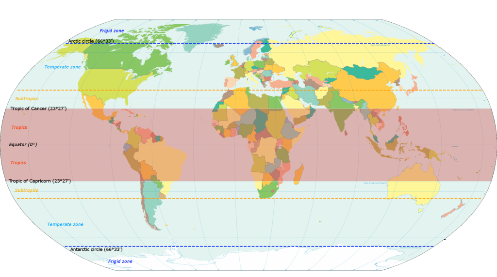 World map indicating tropics and subtropics temperate climate world map indicating tropics and subtropics temperate climate wikipedia gumiabroncs Choice Image