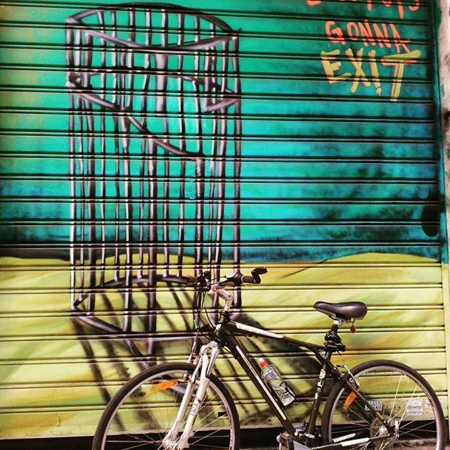 My escape  #graffiti #bicycle #wall #streetart #bikephoto #Athensgreece #rebellion #urban #citylife #wayoflife #freedom #escape