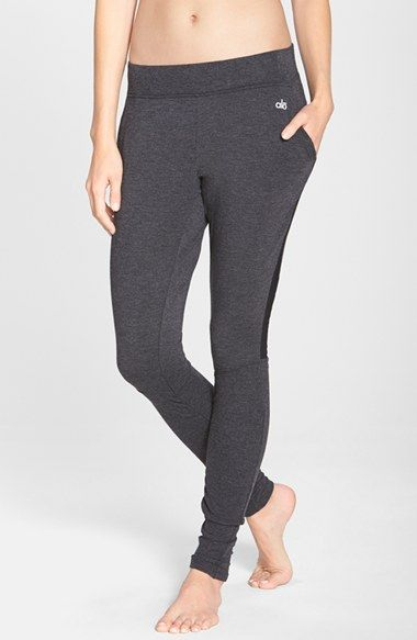 fad61ba35b243 Alo 'Yen' Mesh Inset Ribbed Sweatpants available at #Nordstrom | My ...