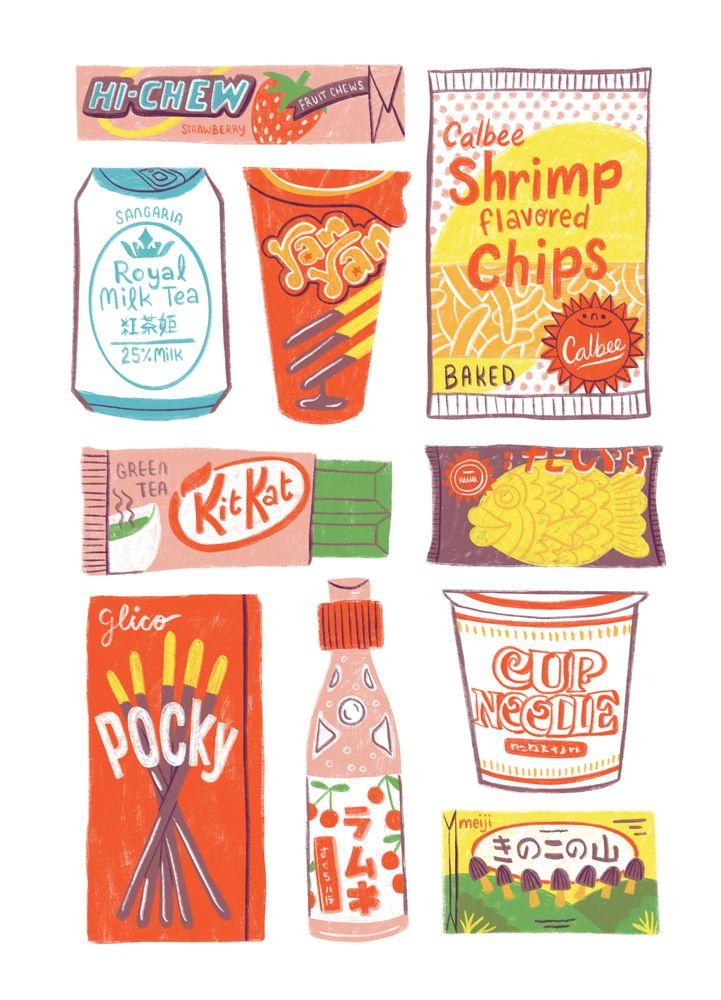 Asian Snacks Acrylic Tray by vanhuynh