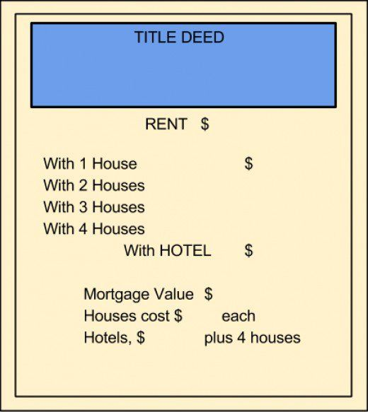 Print your own monopoly property cards board game theme for Deed of gift template australia