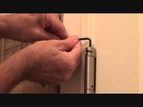 How To Adjust A Self Closing Door Hinge You