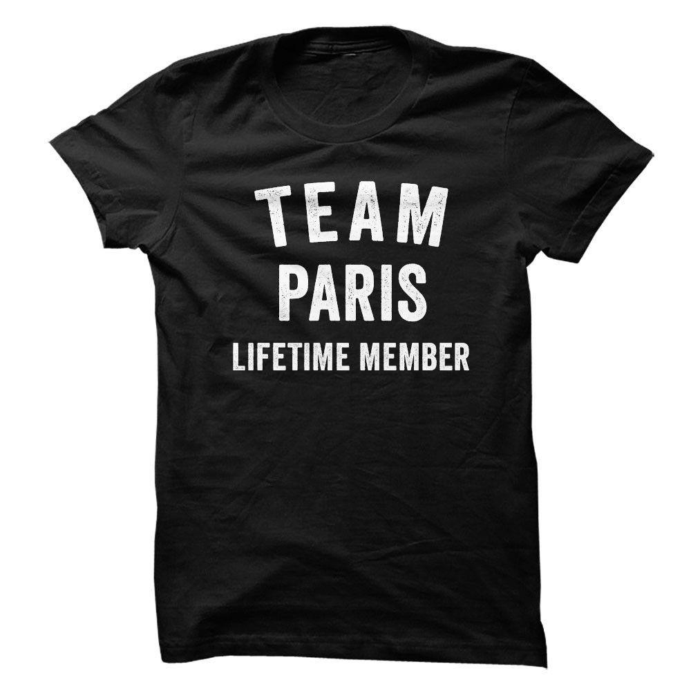PARIS TEAM LIFETIME MEMBER FAMILY NAME LASTNAME T-SHIRT