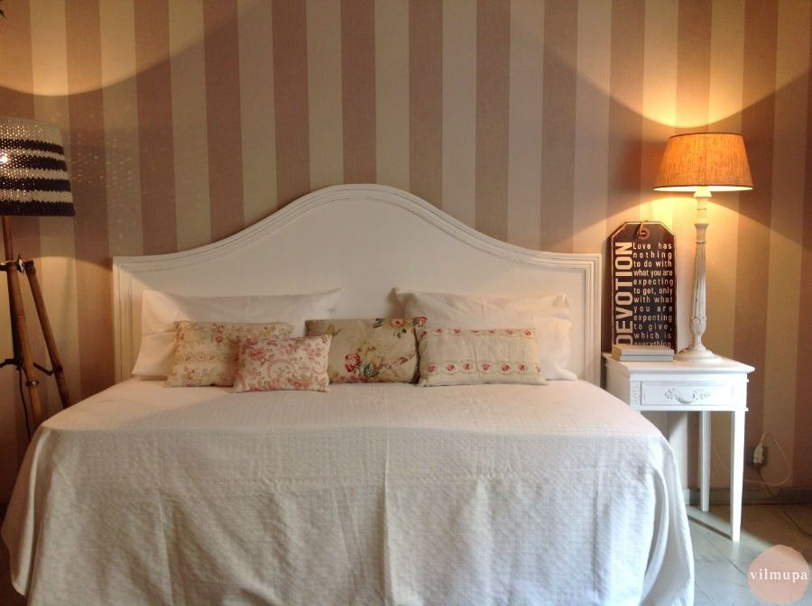 Cabecero romántico de madera blanco - vilmupa | Ideas para el hogar ...