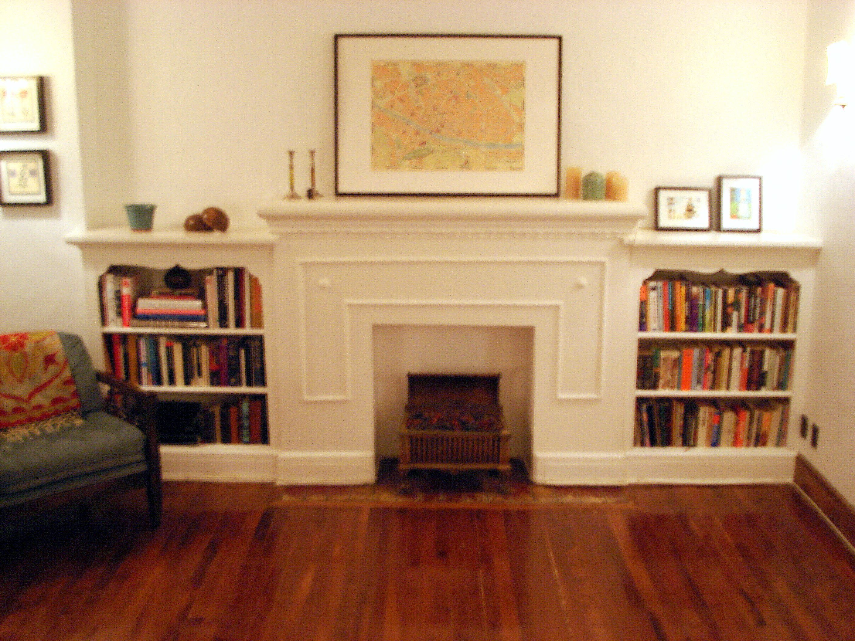 Great Faux Fireplace White Mantel Also Custom Target Bookshelves ...