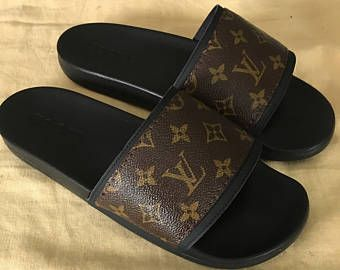 d298caf4dc62 Handmade Louis Vuitton Slides