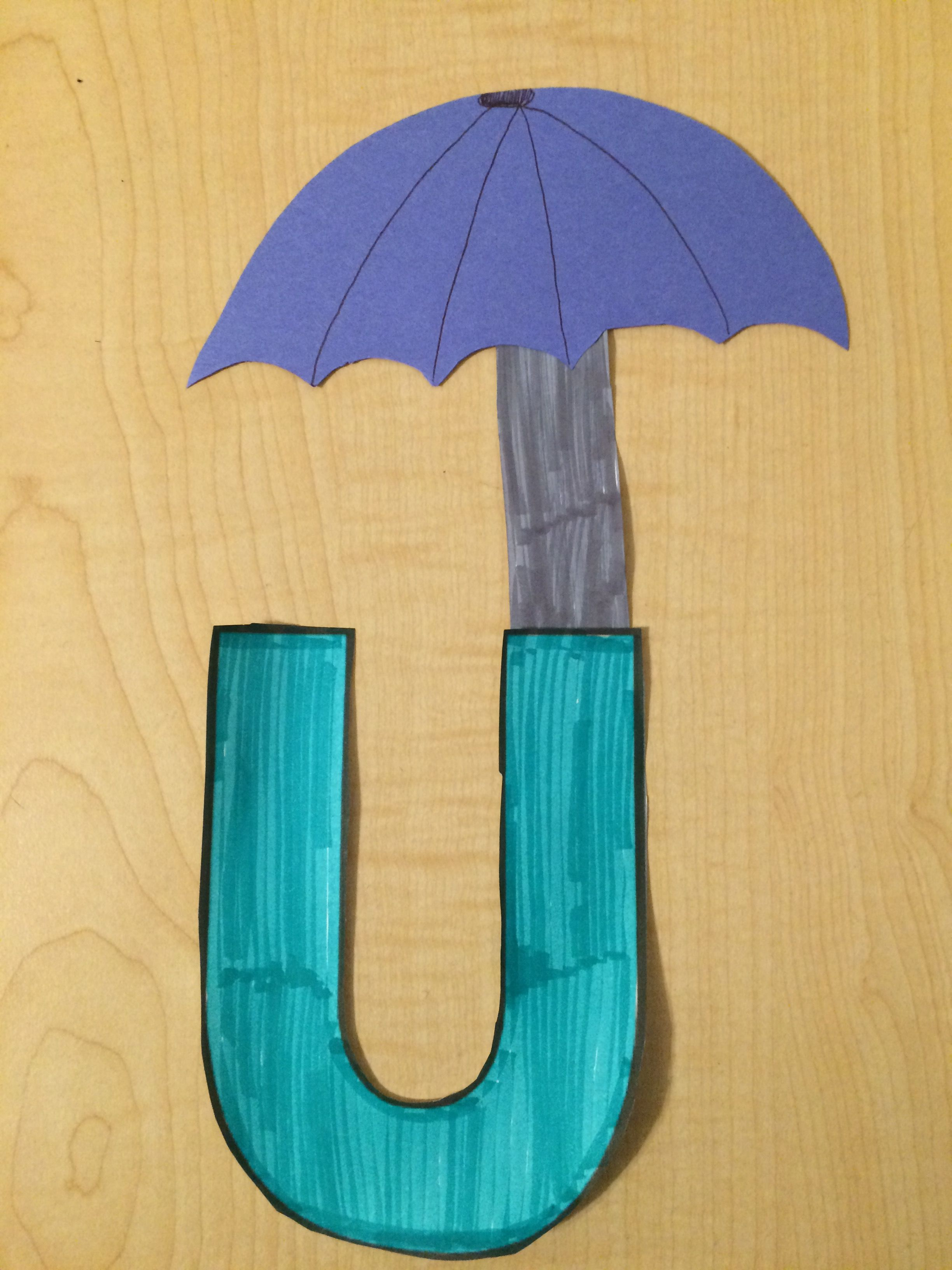 Alphabet Letter Craft Letter U Umbrella