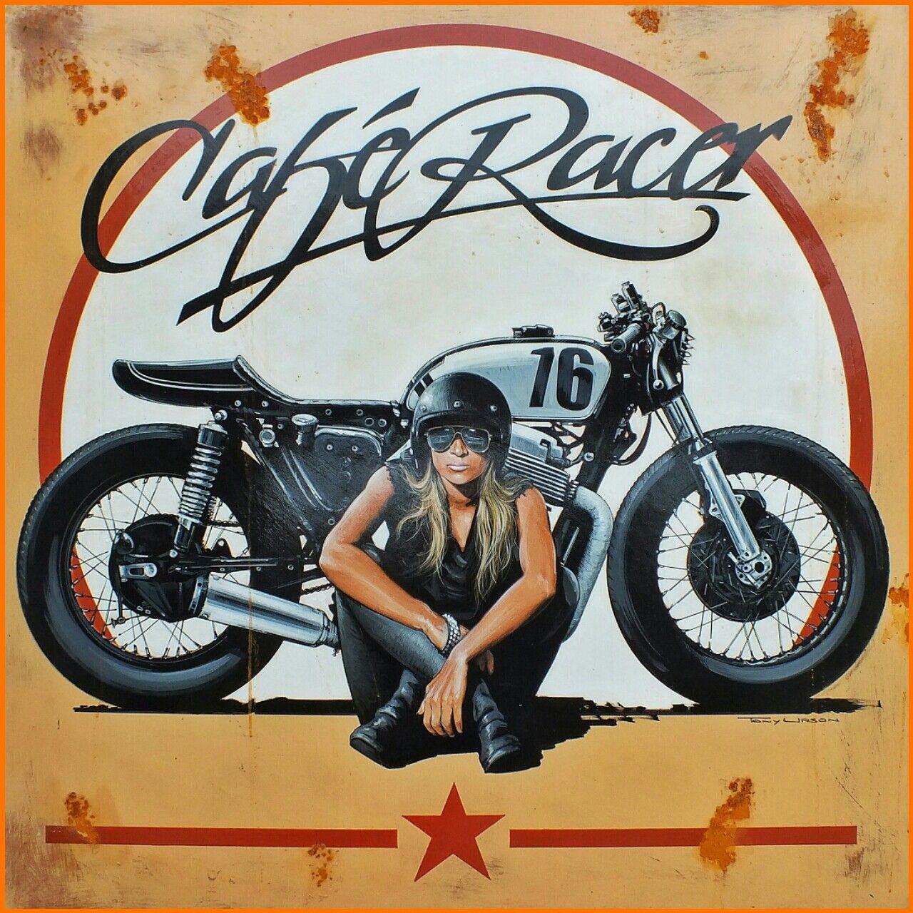 Cafe Racer By Tony Upson Vintage Cafe Racer Cafe Racer Biker Art
