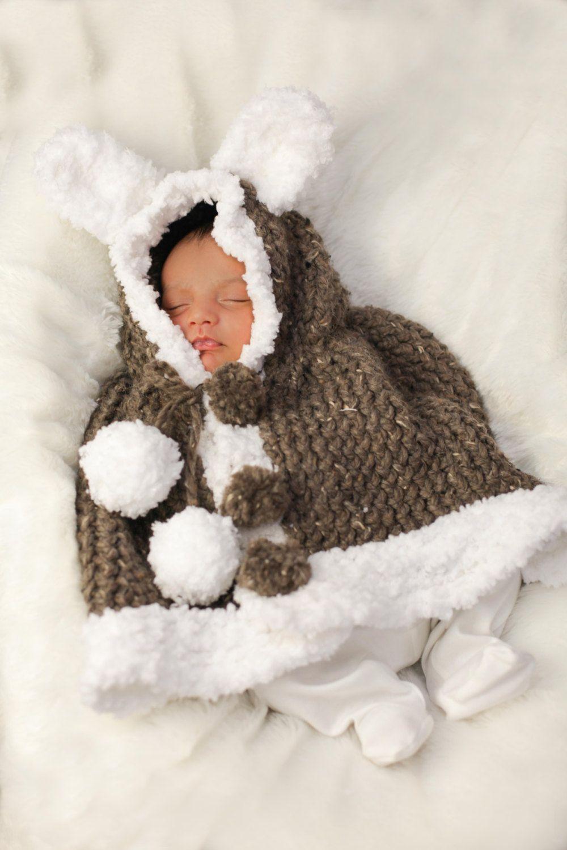 Loom Knit Rabbit Poncho Pattern | Baby | Pinterest