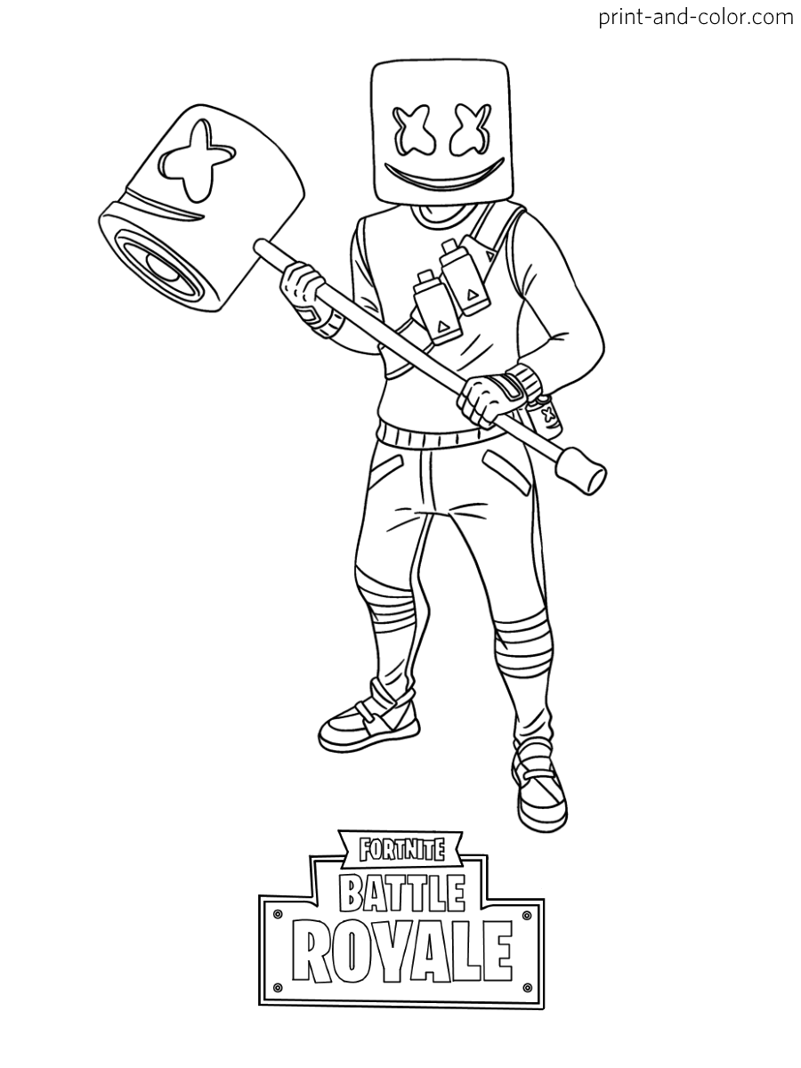 fortnite charicters marshmellow coloring - Yahoo Image Search