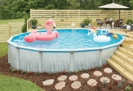 Round 27 Ft Above Ground Pools Pools The Home Depot Swimming Pool Maintenance Pool Vacuums Pool Supplies