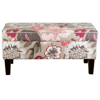 Online Furniture · Shop For Pink Floral Storage Ottoman. Get Free Shipping  At Overstock.com   Your