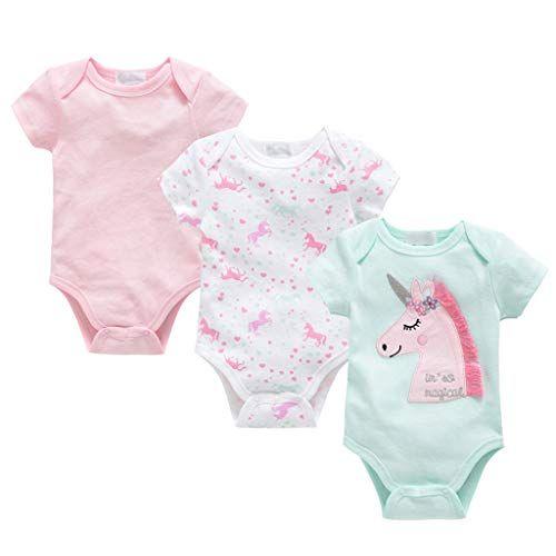 Liabel Confezione da 3 Body Neonato Mezza Manica Baby in Cotone Felpato Assortimento Colore Celeste Fantasie Varie Non Sempre corrispondenti allimmagine. Fantasie Assortite