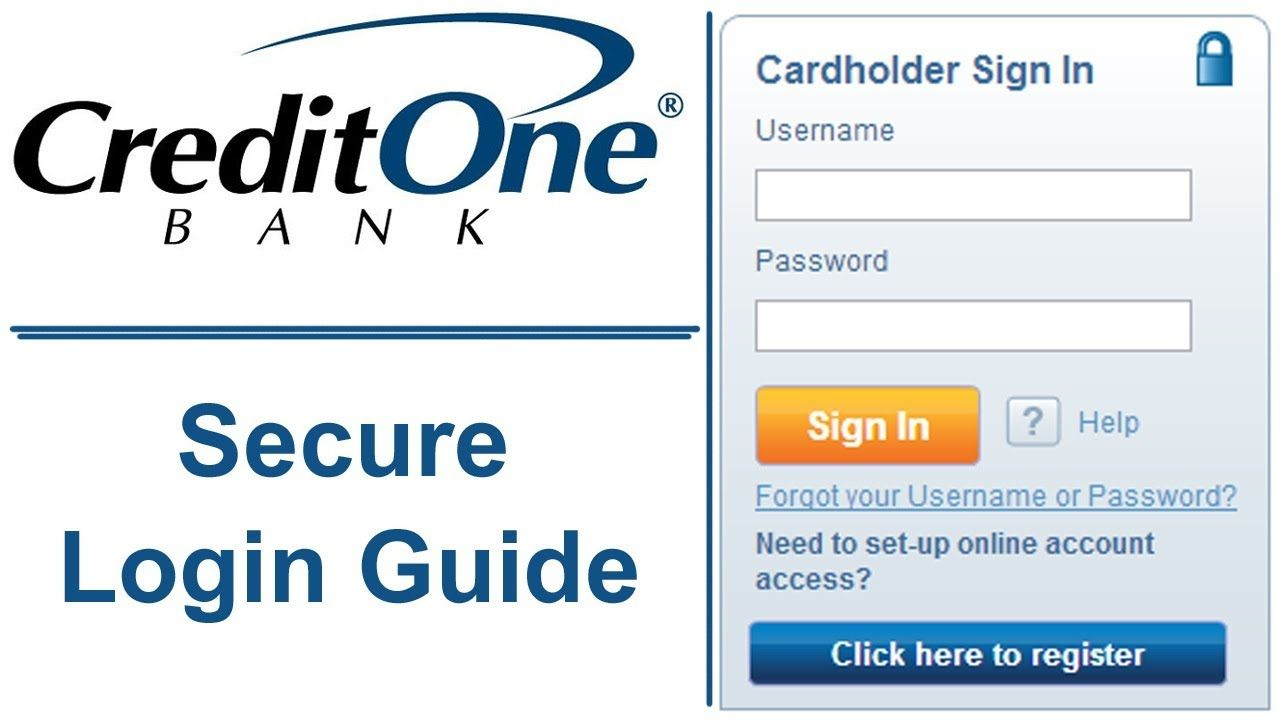 Awesome Credit One Bank Secure Login Guide For Cardholder Check