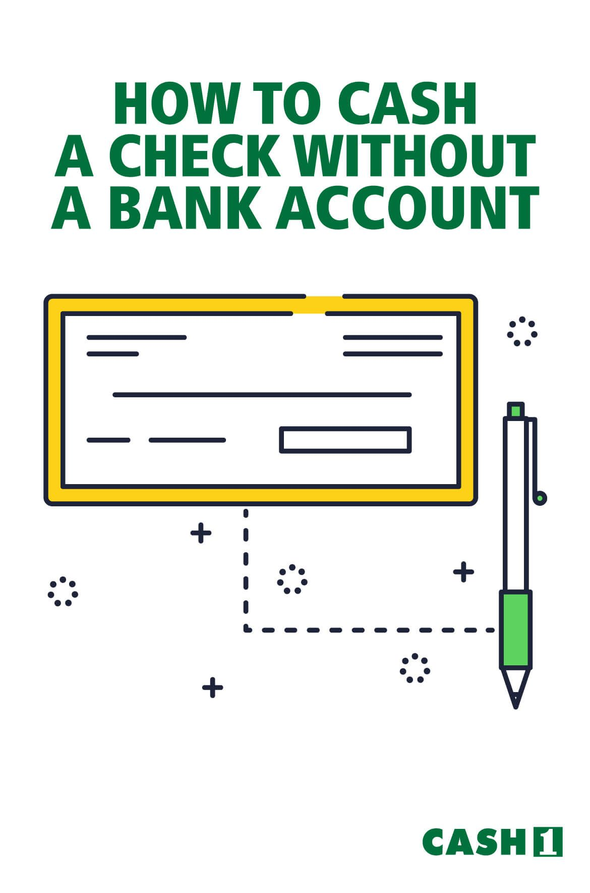 How to cash a check without a bank account bank account