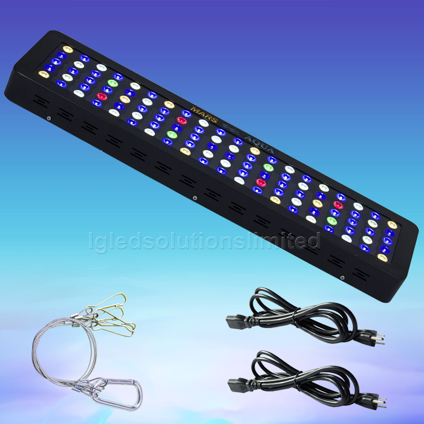 300W LED Aquarium Light Dimmable Full Spectrum for Reef Coral Fresh