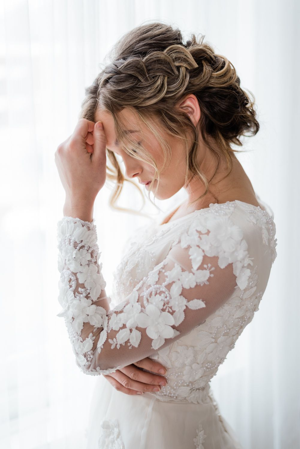 Editorial Bridal Shoot For Elizabeth Cooper Design Modest Wedding Gowns Photo By Whitney F Modest Wedding Gowns Bridal Photoshoot Knee Length Wedding Dress [ 1500 x 1001 Pixel ]