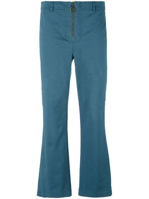PHILOSOPHY DI LORENZO SERAFINI Cropped Flared Trousers. #philosophydilorenzoserafini #cloth #trousers