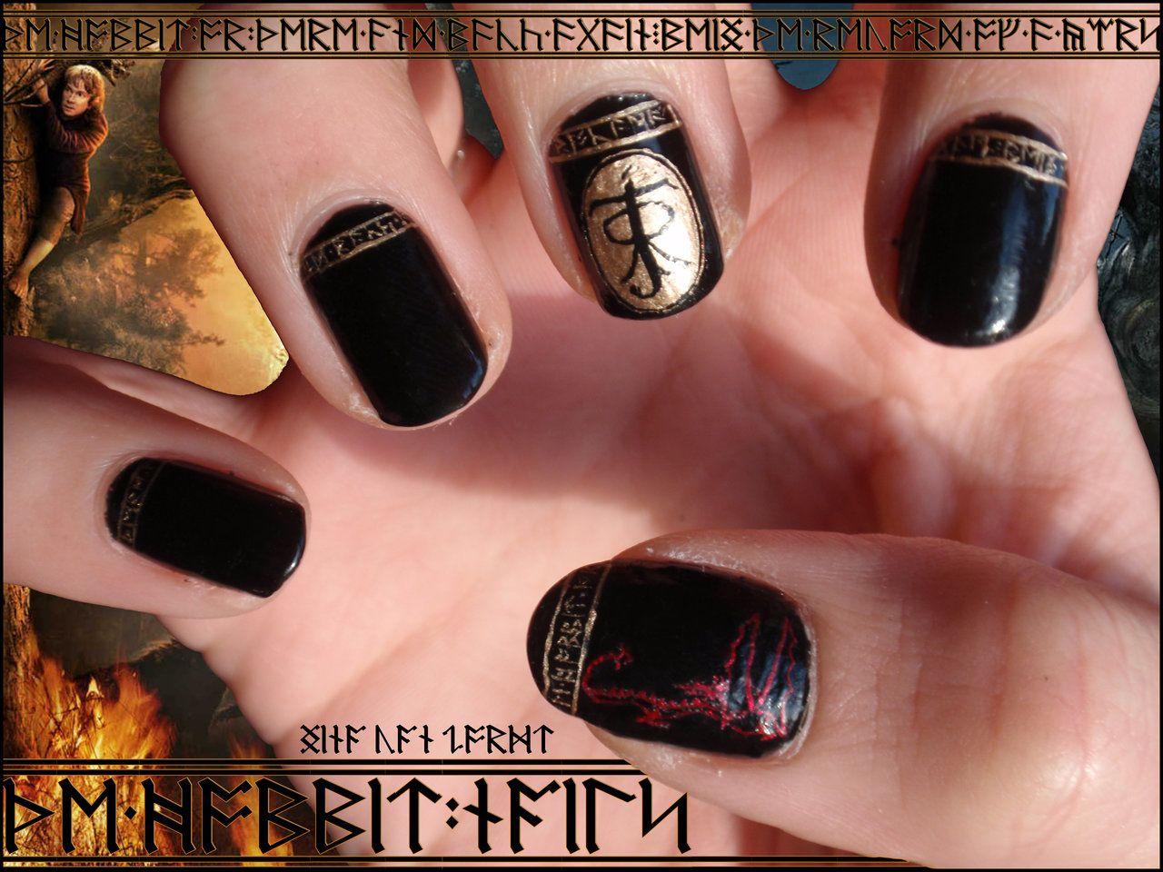 Pin by cristina lopez on Nail Art | Pinterest | Hobbit, Nail nail ...