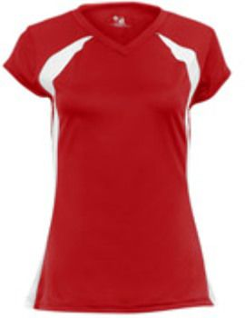 Badger Ladies Jersey Red White Clothes Sport Outfit Woman Women