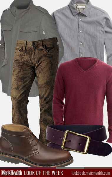 Would YOU rock our #LookoftheWeek? Jacket: Andrew Marc Jeans: True Religion Collar shirt: Ben Sherman V-neck sweater: Banana Republic Belt: ...