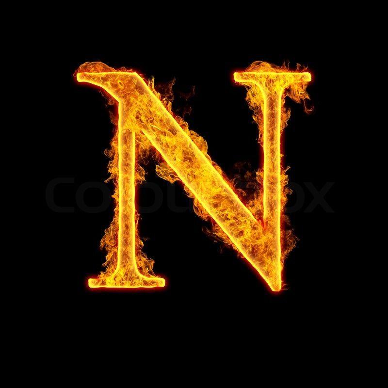 Stock Image Of Fire Alphabet Letter N Isolated On Black Background Lettering Alphabet Alphabet Letters Design Alphabet Photos