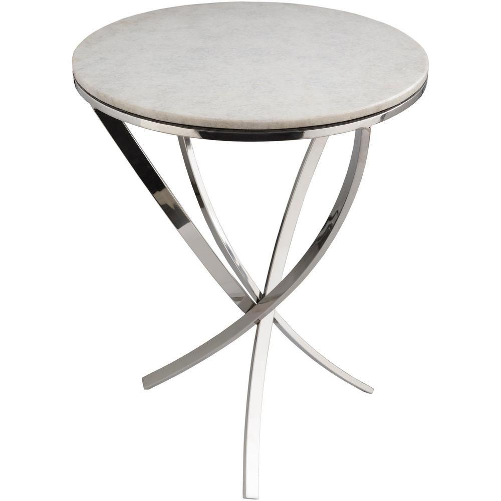 Artistic Weavers Oashu Ivory Side Table End Tables White Side