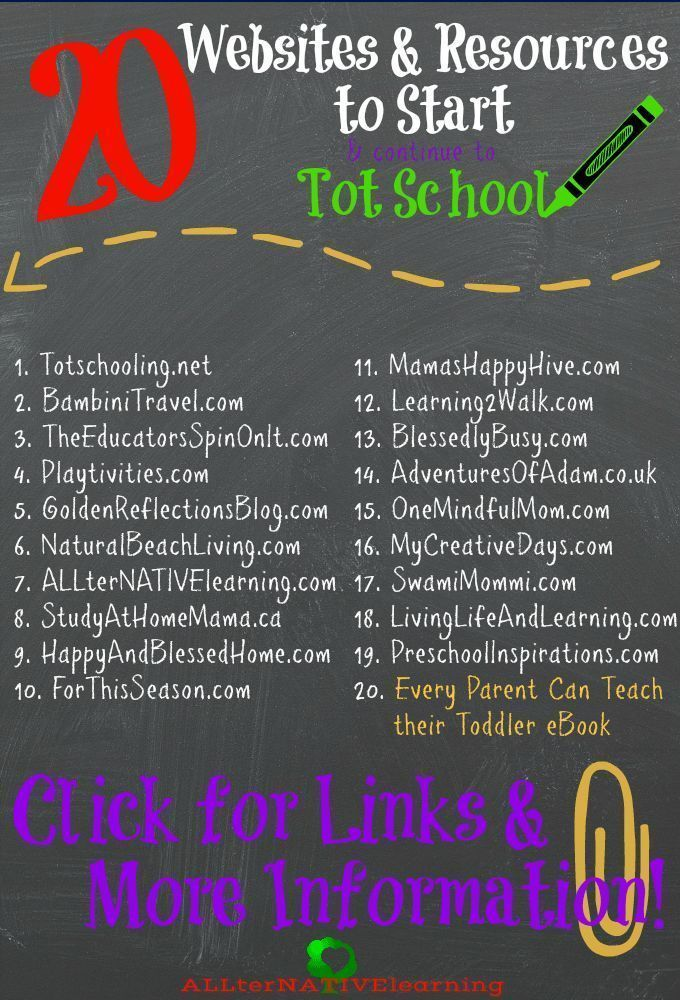 Photo of 20 Websites & Resources to Start Tot School