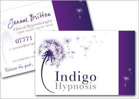Joanne Britton Indigo Hypnosis Business Card Design Business