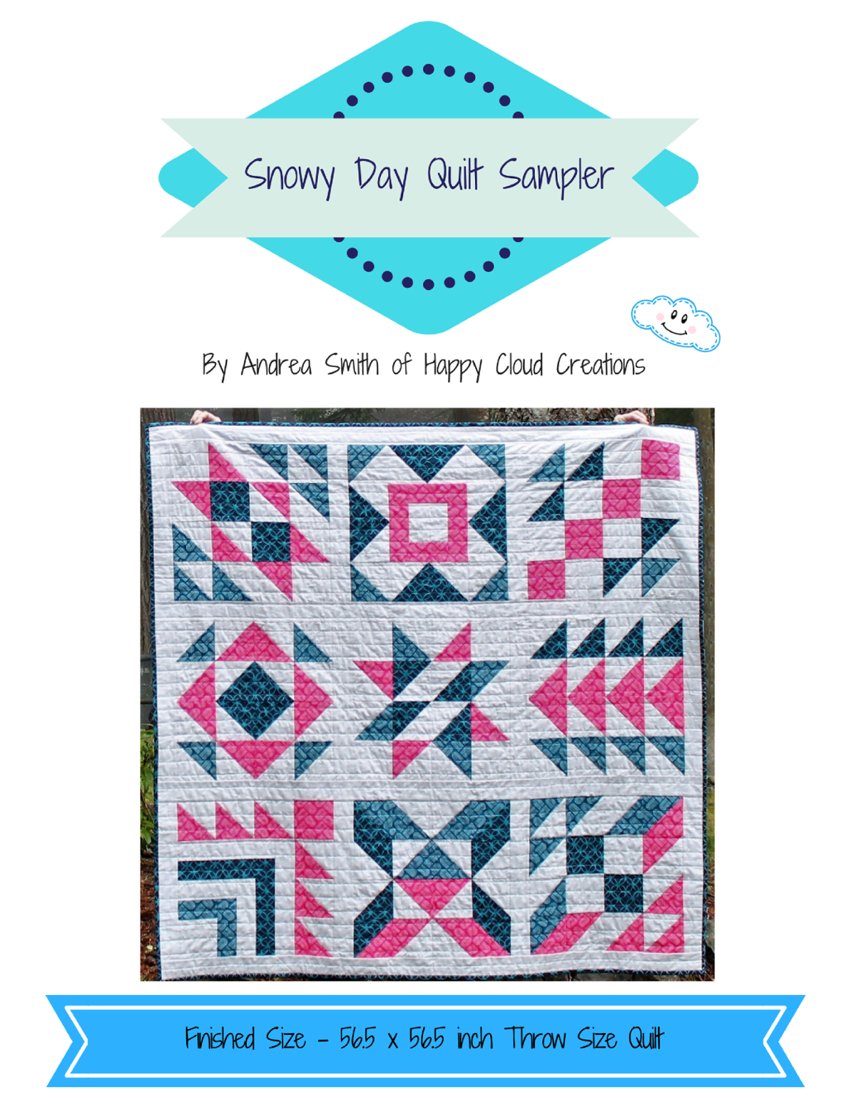 Snowy Day Quilt Sampler - FREE Quilt Pattern featured on the National  Quilters Circle block challenge. Easy Quilt Pattern