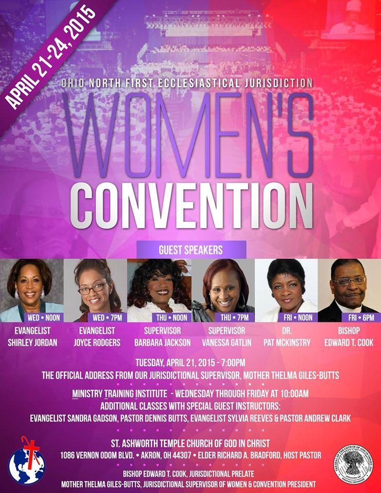 Ohio North First Ecclesiastical Jurisdiction COGIC Annual Women's