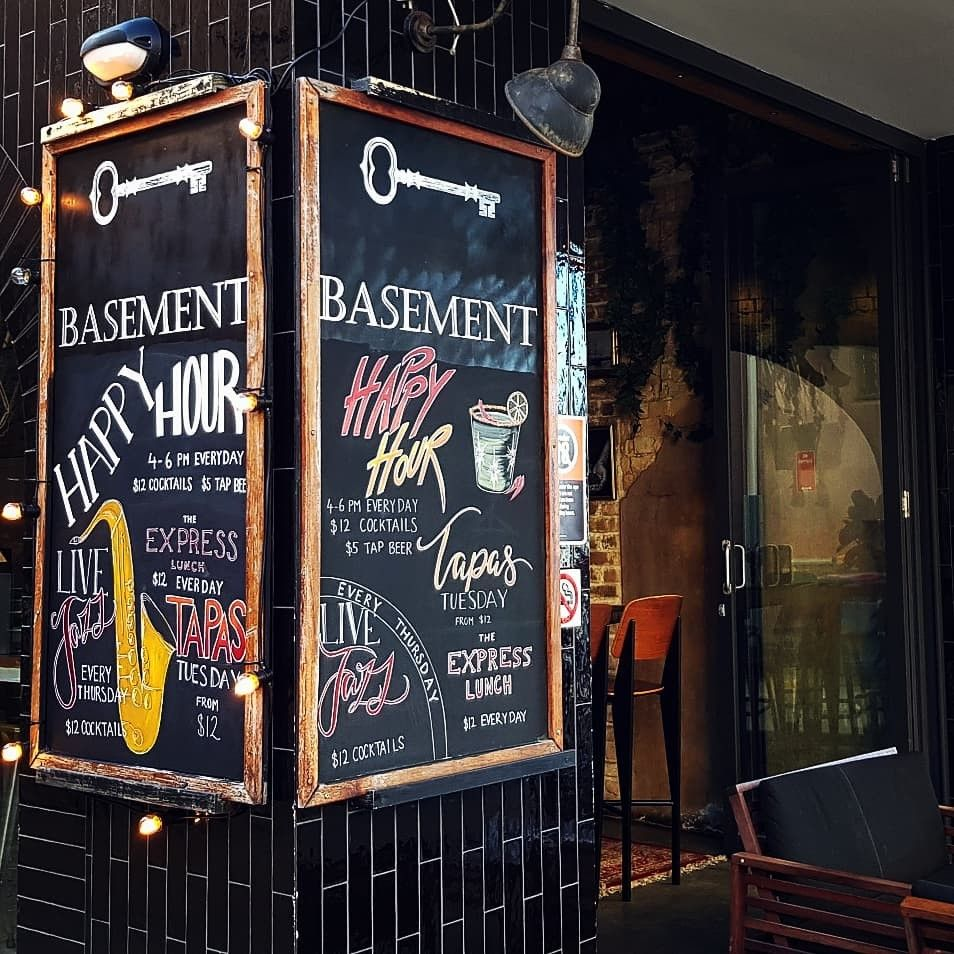 Low Basement Bar Ideas: The Basement On Market Street In Newcastle, Custom Chalk