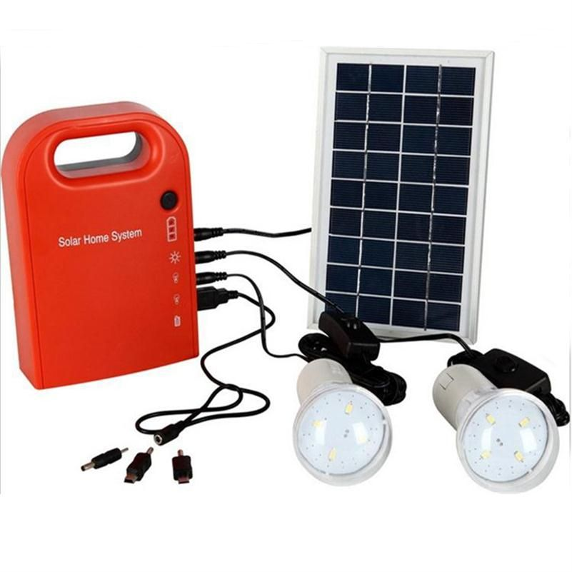 Portable Large Capacity Solar Power Bank Panel 2 Led Lamp Usb Cable Battery Charger Emergency Lighting Solar Solar Led Lights Solar Lamp Portable Solar Panels